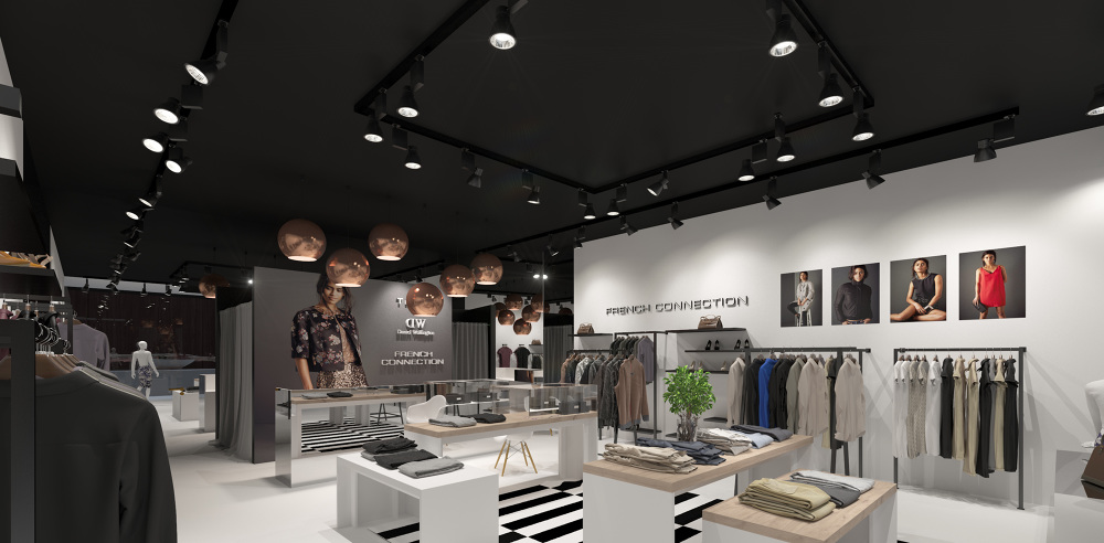 Interior visualization of the multi-brand store - dizonaurai